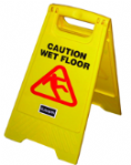 "3562 RHP Wet Floor Sign A-Frame 24"" Yellow"